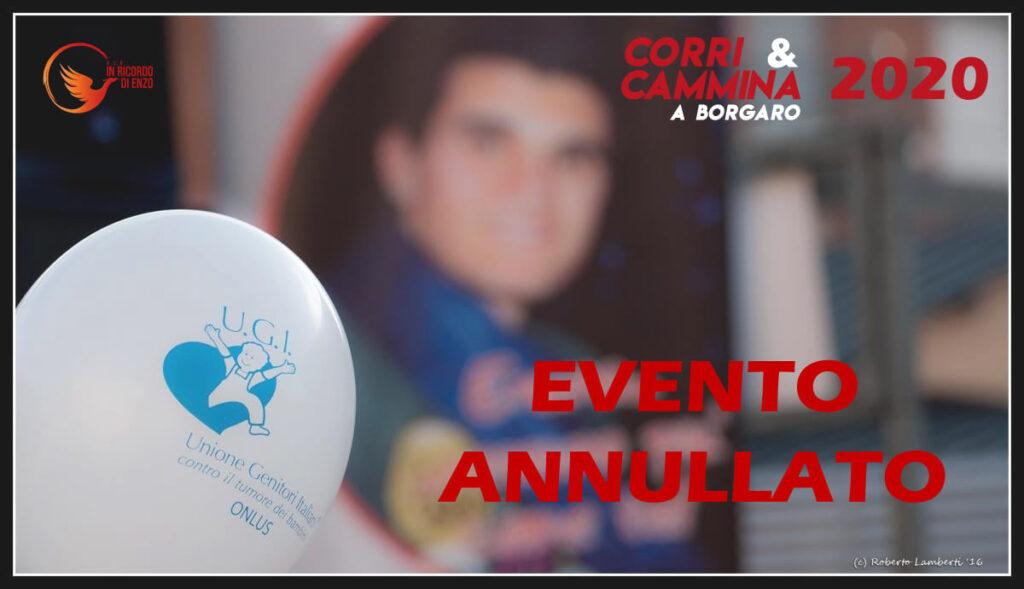 MESSAGGIO IMPORTANTE Corri & Cammina a Borgaro 2020